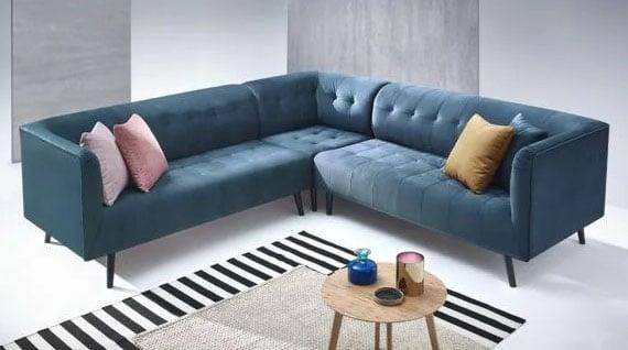 Canapé Panoramique Bleu Canard