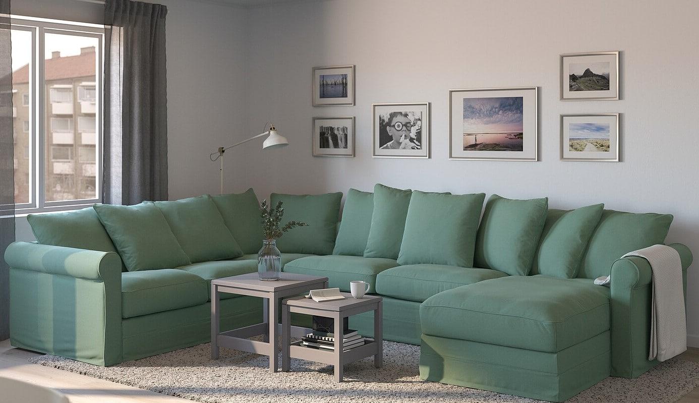 Canapé Panoramique Vert Clair
