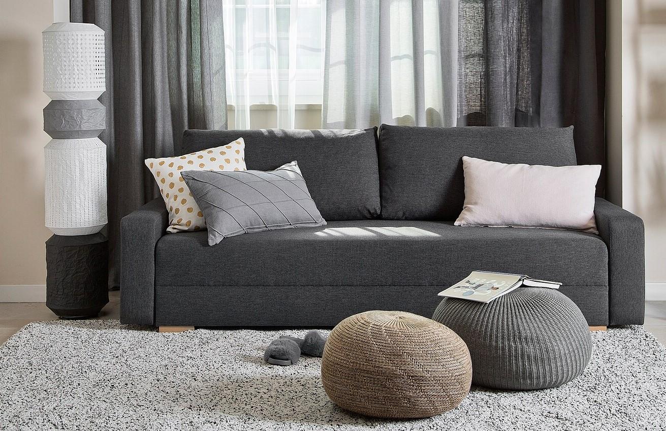Canapé Simple Gris Anthracite