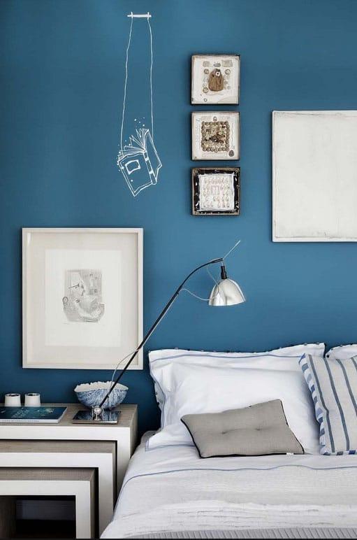 Chambre Bleu Cyan Et Blanc
