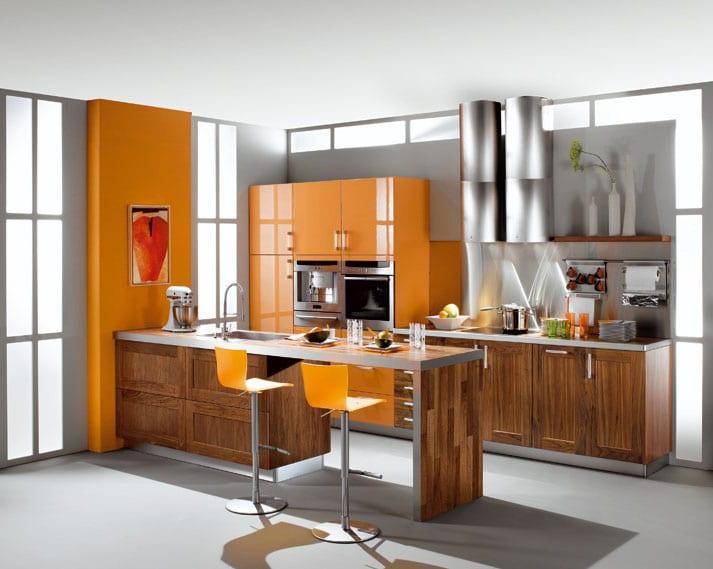 Cuisine Bois Et Orange