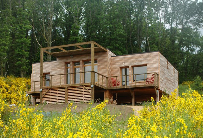 Maison Bois Bioclimatique