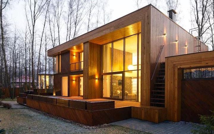 Maison En Bois Cube