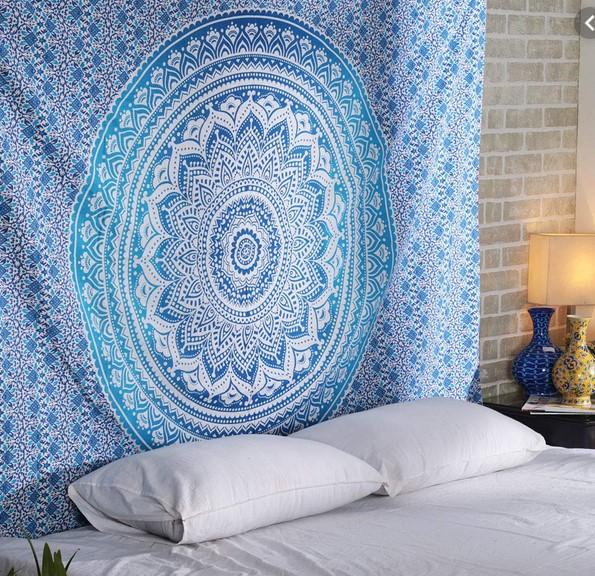 Mandala Bleu Pinterest