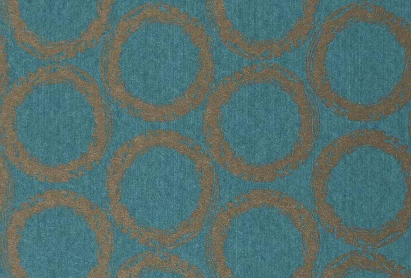 Papier Peint Bleu Et Doré