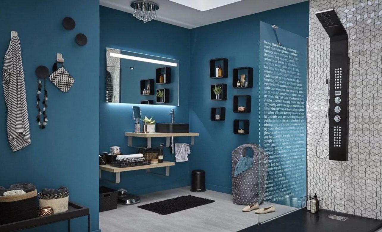 Peinture bleu canard : images, idées, inspirations pour peindre vos murs
