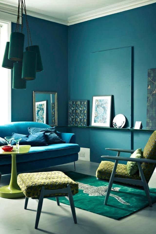 Salon Vert Et Bleu