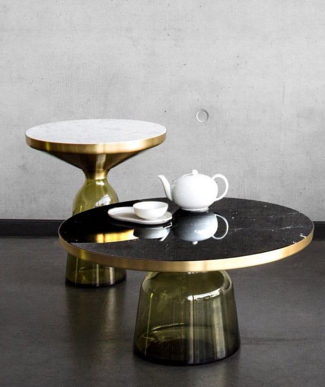 Table Basse En Marbre Et Verre