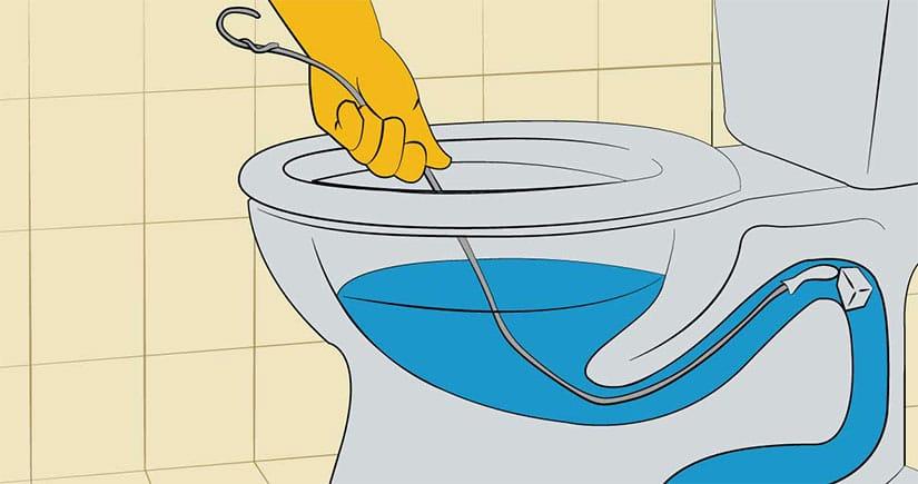 Deboucher WC avec un cintre