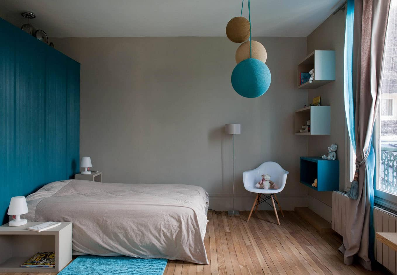 Chambre Turquoise Et Taupe