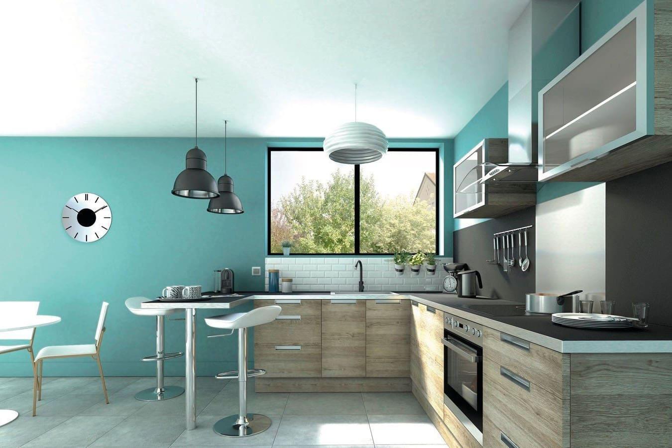 Choix De Peinture Cuisine quelle couleur de peinture pour une cuisine en bois clair ?