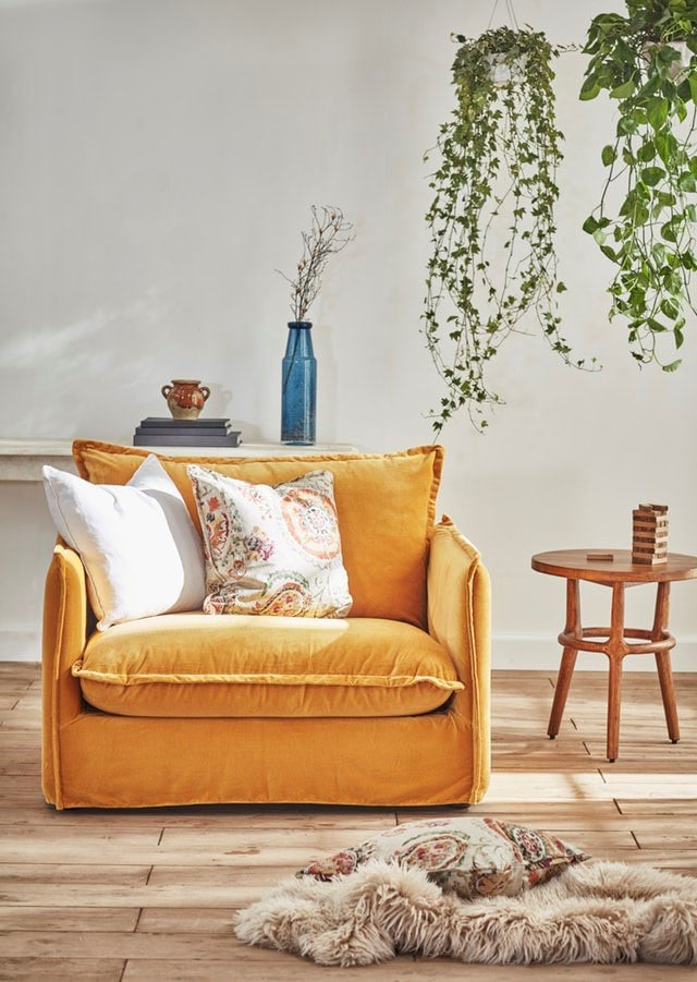 Fauteuil Ocre
