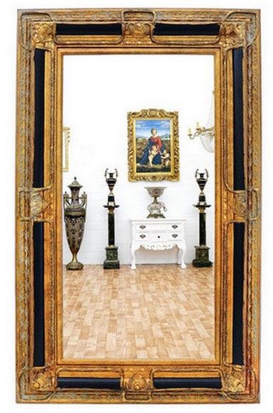 Grand Miroir Bois Doré