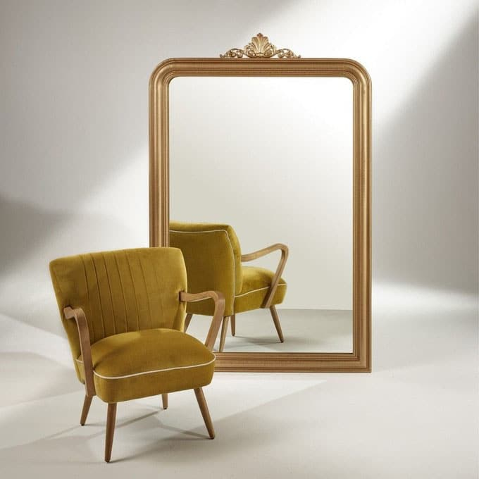 Grand Miroir Doré