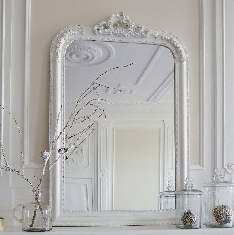 Miroir Baroque Blanc