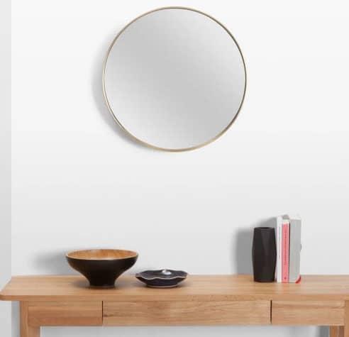 Miroir Encadrement Or
