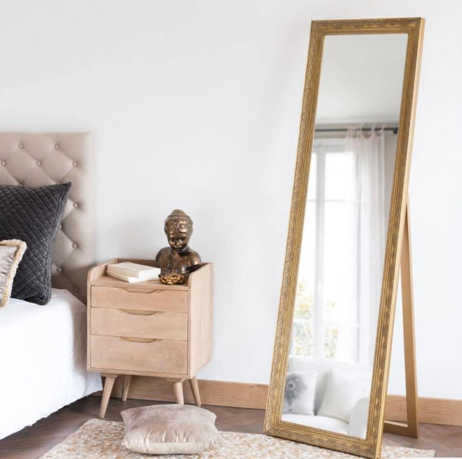 Miroir Paulownia Doré