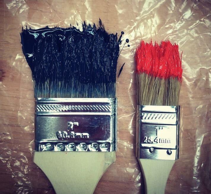 Nettoyer Un Pinceau Avec De La Peinture Glycero Comment Faie
