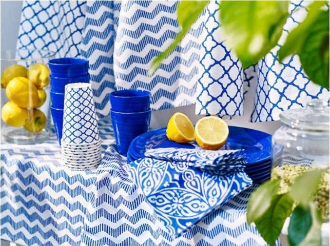 Textile Bleu Indigo