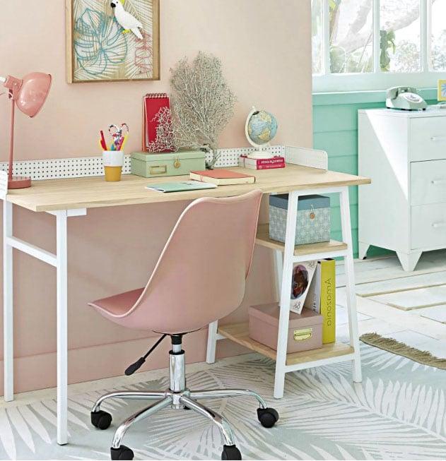 Chaise Rose De Bureau