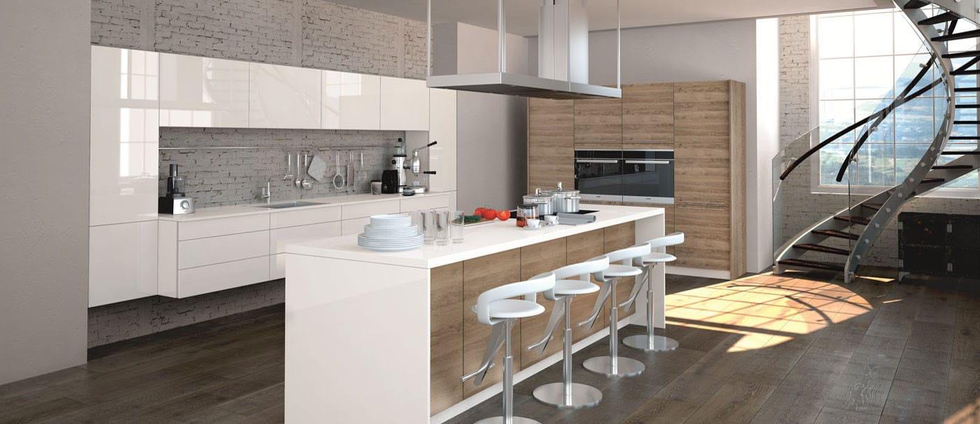 Cuisine Laquée Grise cuisine laquée blanche : sélection des meilleurs modèles