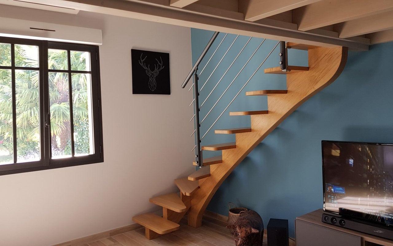 Escalier Sous Mezzanine Bois