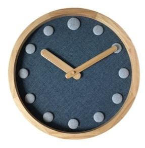 Horloge Bois Et Tissu