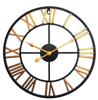 Horloge Indus Or Et Noir