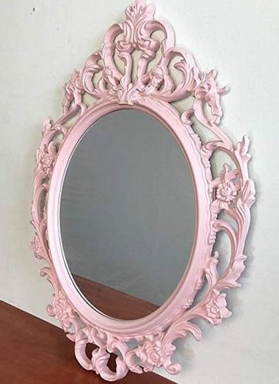 Miroir Baroque Rose
