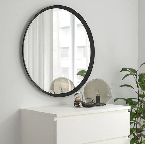 Miroir Gris Foncé Langesund