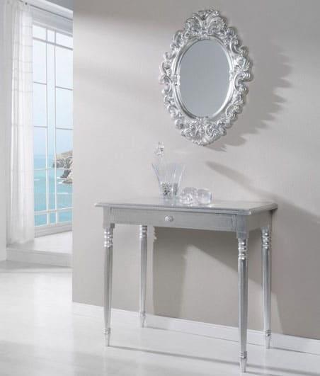 Miroir Ovale Argenté