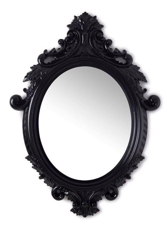 Miroir Ovale Noir