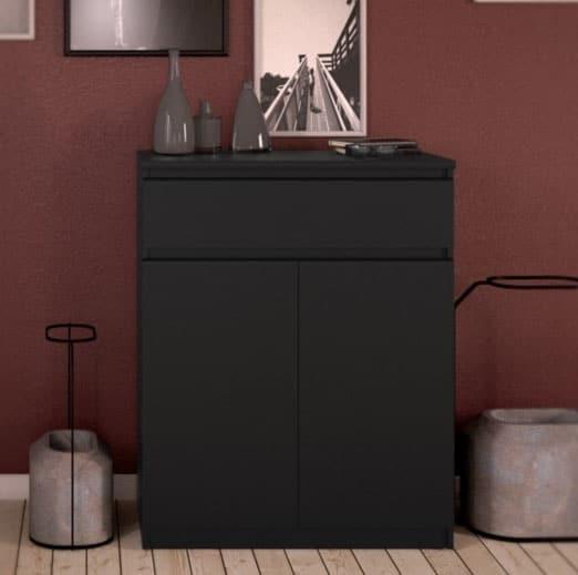 Rangement Noir Mat