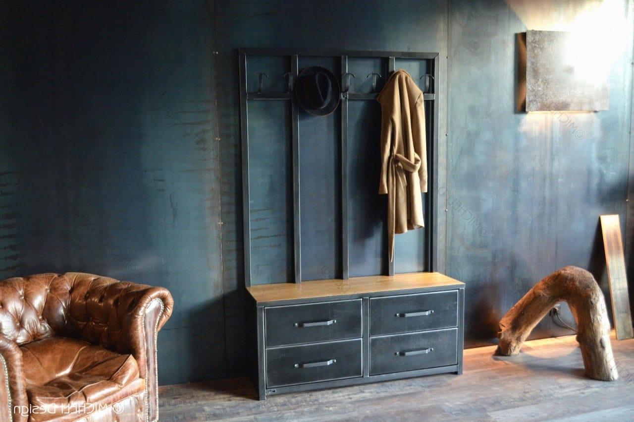Meuble D Entrée Industriel meuble d'entrée industriel : notre sélection pour votre déco