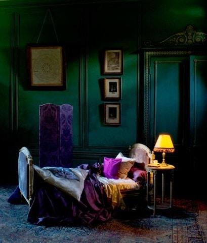 Chambre Verte Et Couleurs Vives