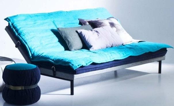 Convertible Turquoise Et Gris