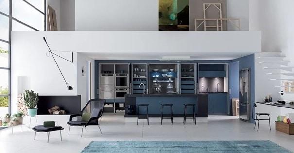 Cuisine Design Bleue