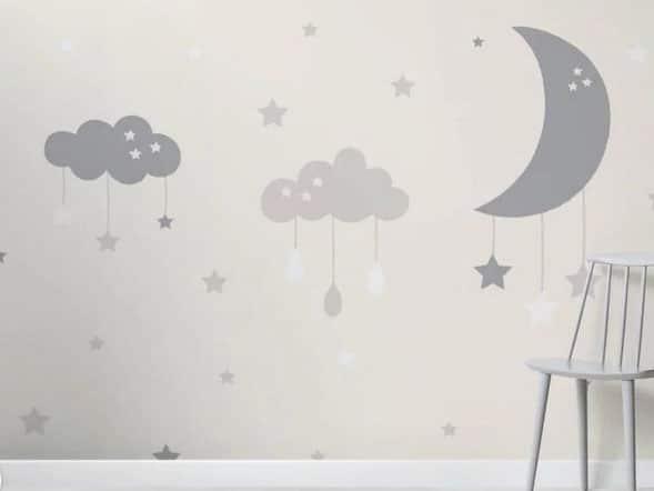Papier Peint Nuage Et Lune