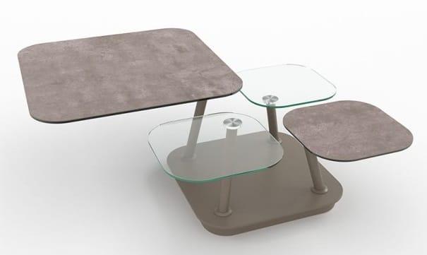 Table Basse 4 Plateaux Dynamique