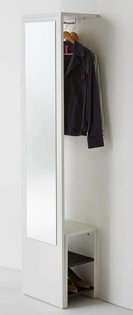 Vestiaire Blanc Avec Miroir