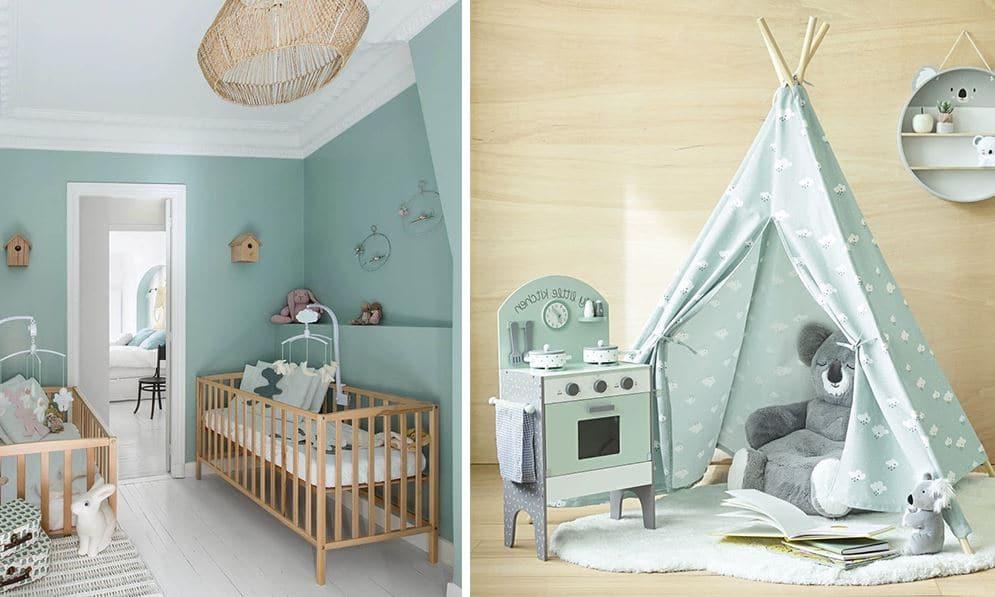 Chambre bébé vert menthe : 8 idées déco pour une pièce tendance
