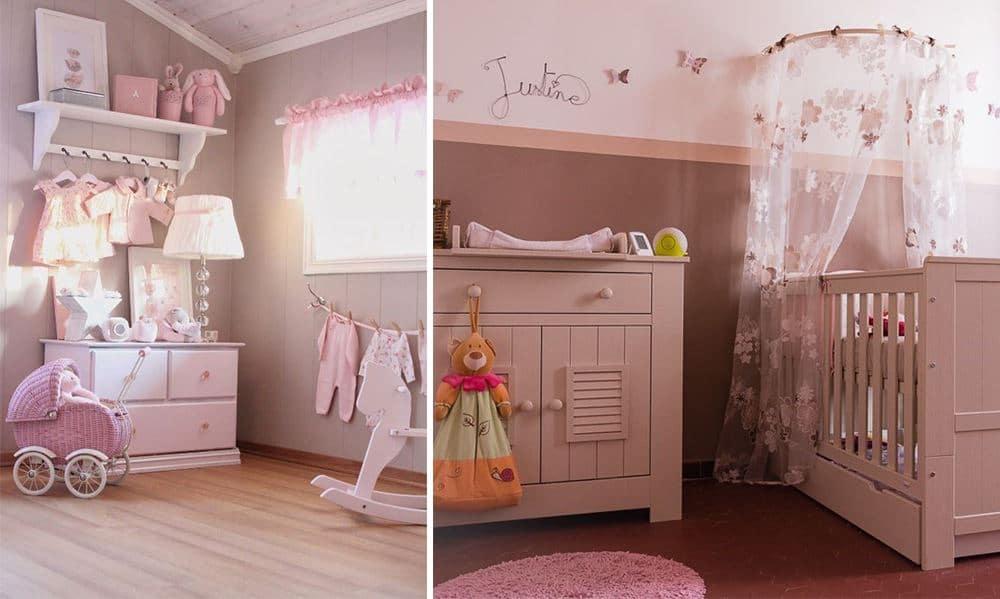 Déco Chambre Bébé Fille Rose Taupe