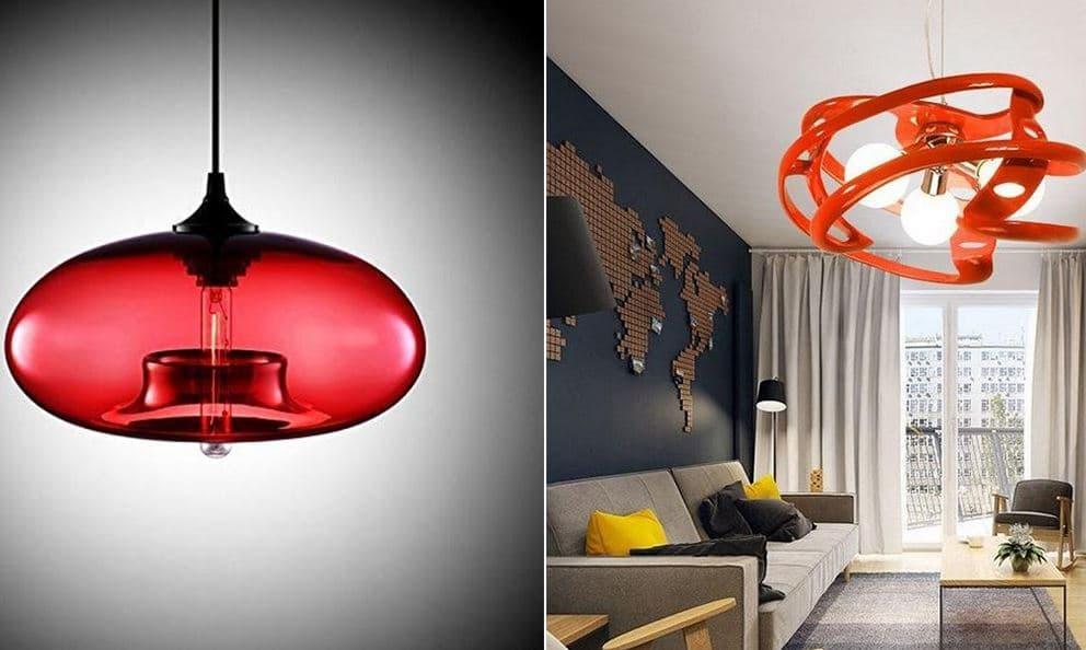 Lustre Moderne Rouge