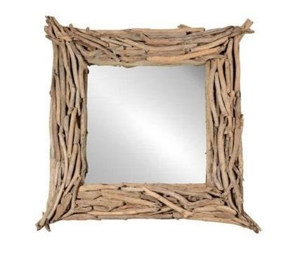 Miroir Encadrement Bois Flotté
