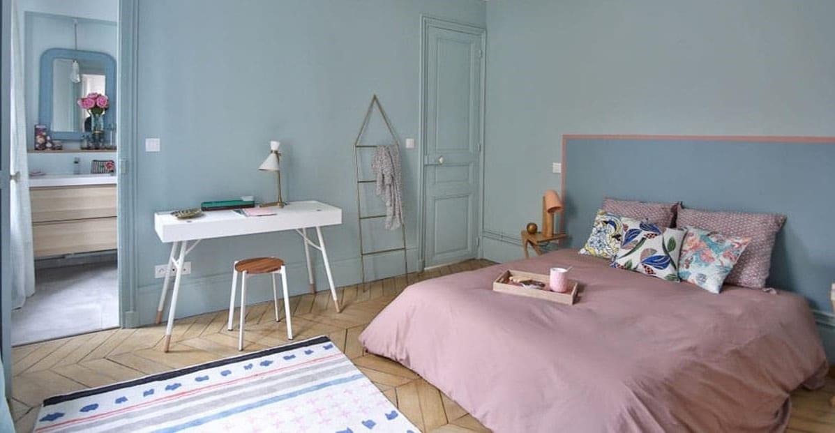 Chambre Rose Et Gris Bleu