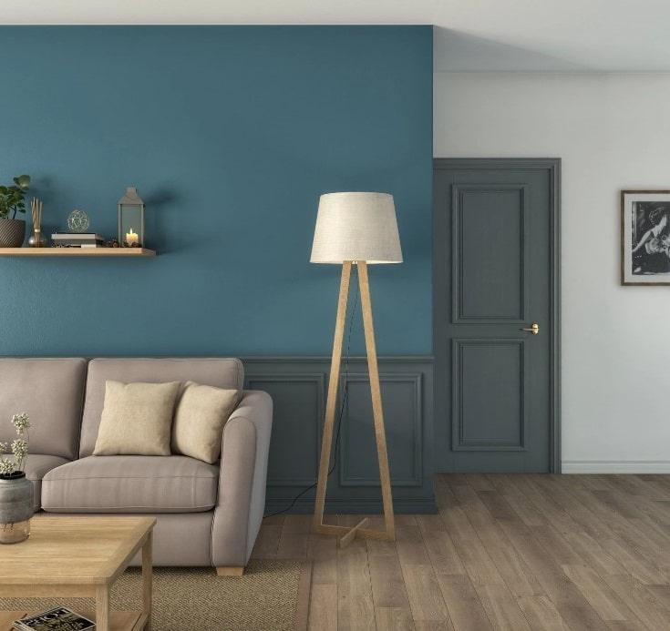 Salon Bleu Et Beige