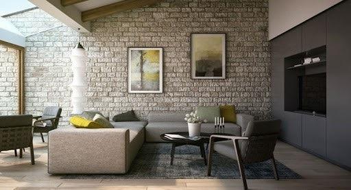 11 Facons De Decorer Un Mur En Pierre Apparente Dans Son Salon