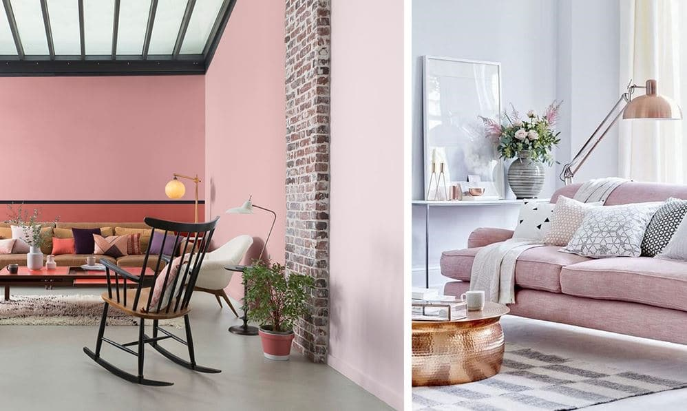 Salon Gris Et Rose