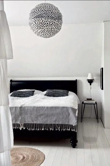 Chambre Epuree Noir Et Blanc