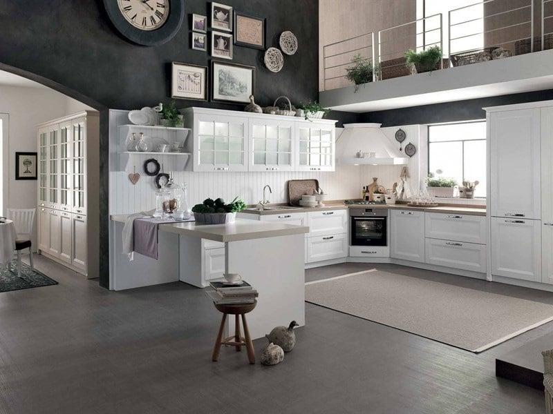 Cuisine Américaine Blanche Style Atelier site